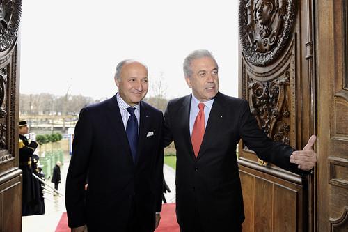 Συνάντηση ΥΠΕΞ Δ. Αβραμόπουλου με Γάλλο ΥΠΕΞ L. Fabius