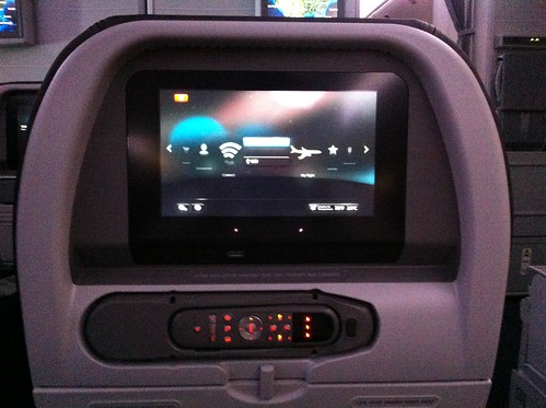 American Airlines 777-300ER Entertainment System