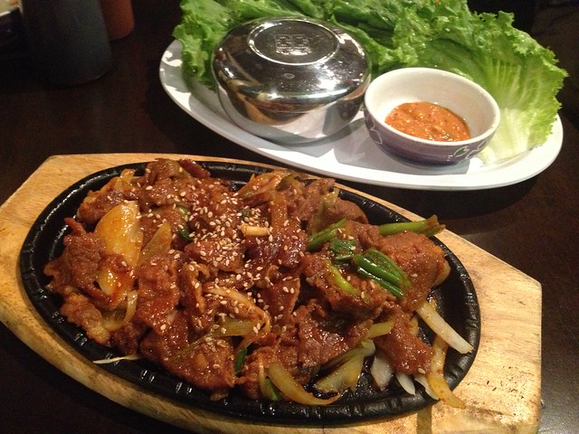 Spicy pork with ssam - K-pop