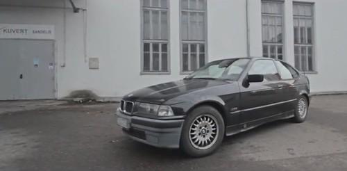 BMW 3 (E36) beveik chuligankė: ruošk roges video