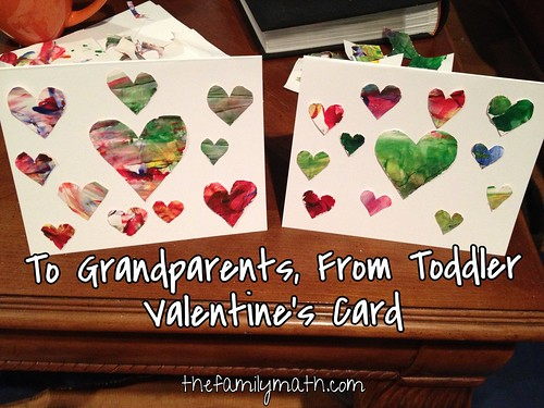 Easy toddler Valentine's card for grandparents