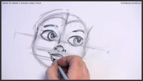 learn how to draw a young girls face 011