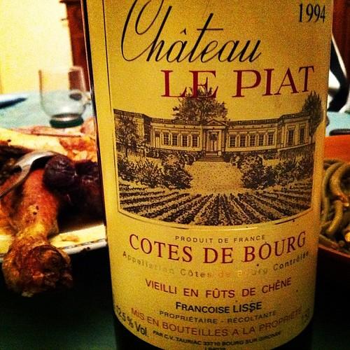 Magnum château Le Piat 1994, cotes de Bourg, avec le poulet rôti de mamie