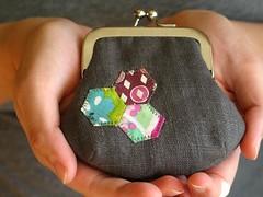 hexagon coin purse