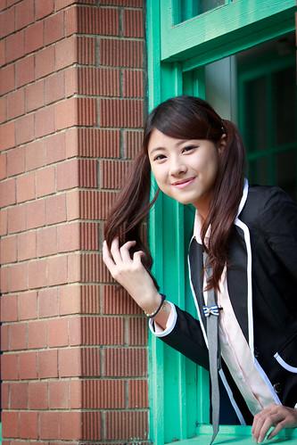 [フリー画像素材] 人物, 女性 - アジア, セーラー服, 台湾人 ID:201303091400