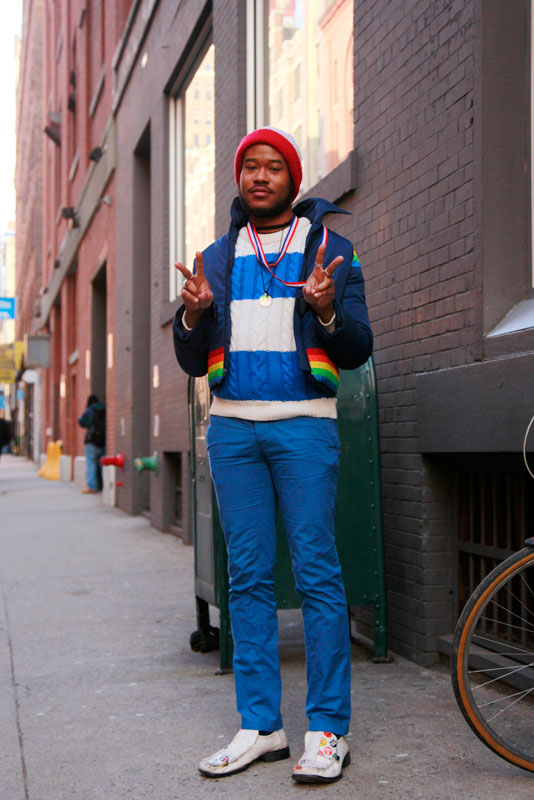 blue_madefw street style, street fashion, men, NYC, NYFW, MadeFW, Quick Shots