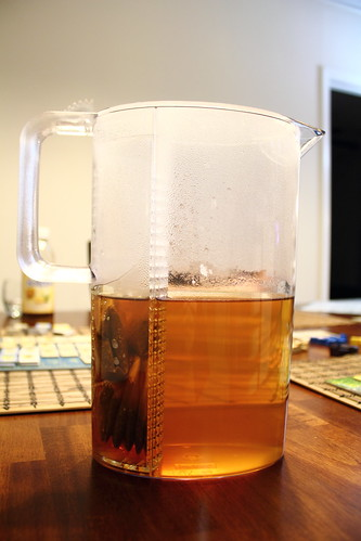 Ice tea in the brewing