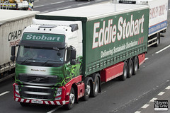 Volvo FH 6x2 Tractor - PX10 DKD - Michelle Louise - Eddie Stobart - M1 J10 Luton - Steven Gray - IMG_1215