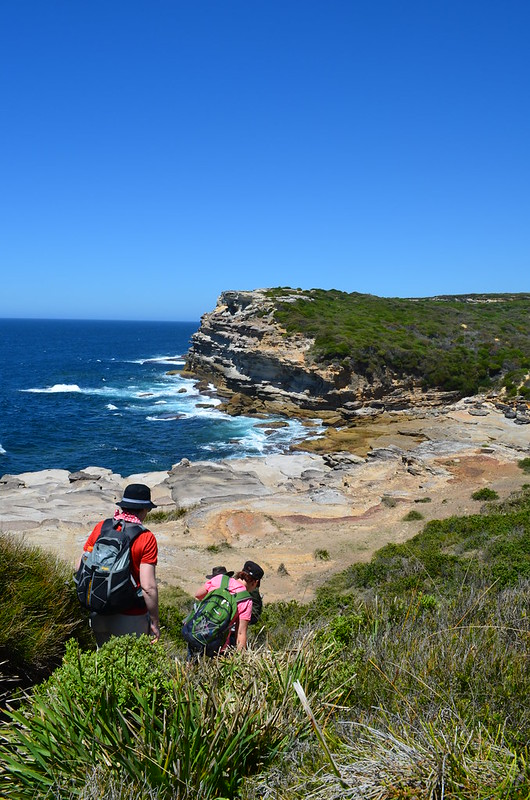 The many colours of Hawkesbury Sandstone are a wonderful feature of the coastline - Royal National Park