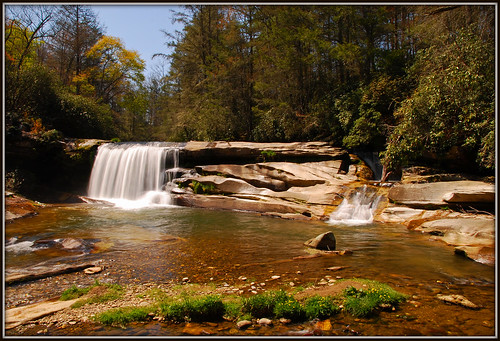 river waterfall nc northcarolina frenchbroadriver nikkor1685vr frenchbroadfalls nd8xfilter gitzotripodwithmarkinshead livingwatersministriesproperty