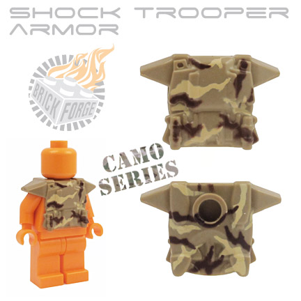 Shock Trooper Armor - Dark Tan (camo print)
