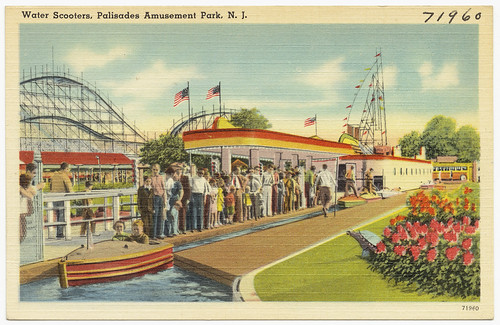 Water scooters, Palisades Amusement Park, N. J. amusement parks