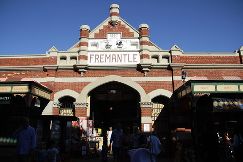 In front of Fremantle Markets