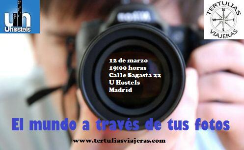 Cartel de la segunda edición de Tertulias viajeras (El mundo a través de tus fotos)