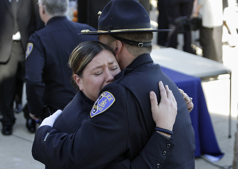 Funeral for LA officers slain by Chris Dorner