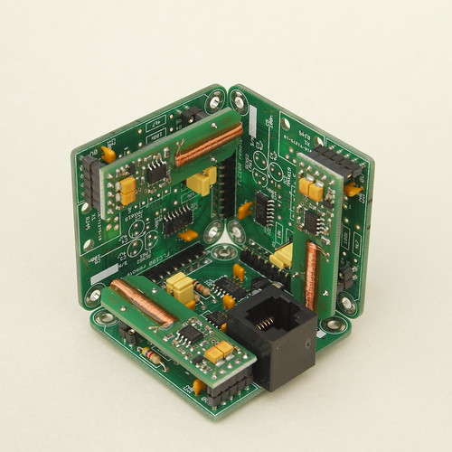 Three-axis magnetometer sensor unit