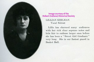 Lillie Keilman from HHS 1916 Aurora yearbook