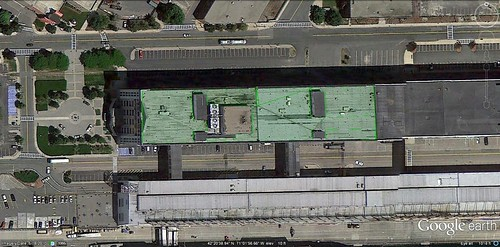 the roof the the Boston Design Center (via Google Earth)