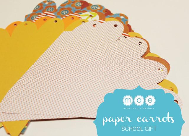 Paper Carrots - School Gift