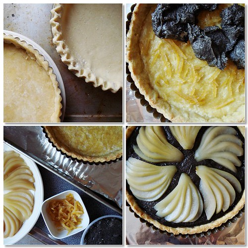 Making Of Black Sesame Yuzu Pear Tart