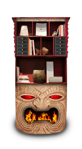 Tiki Bookshelf