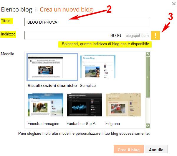 2_NOME_BLOG, topogina, Corso Migliora il tuo Blog, Come aprire un blog in Blogger