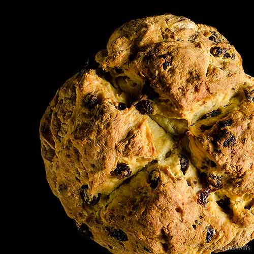 Irish Soda Bread Loaf, Overhead View