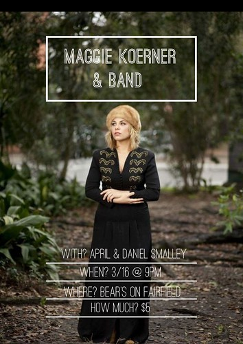 Maggie Koerner & band @ Bears, Sat, Mar 16 by trudeau