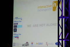 Interactive Newsprint slide: partners and collaborations
