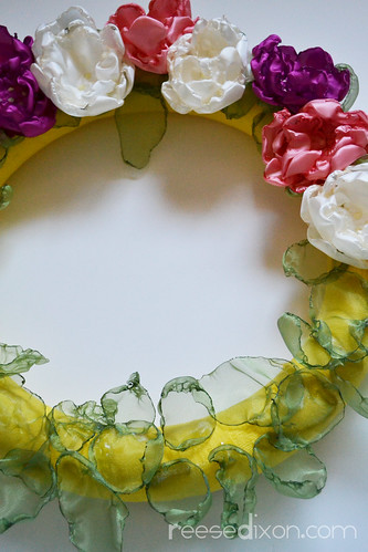 Singed Flower Wreath Tutorial Step 9