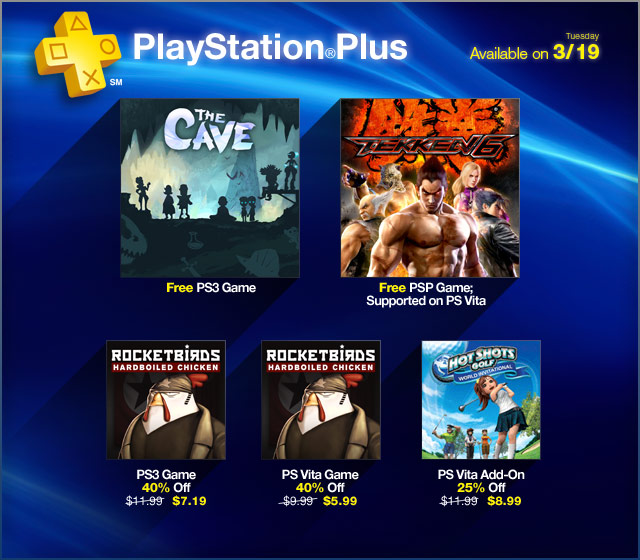 PlayStation Plus Update 3-19-2013