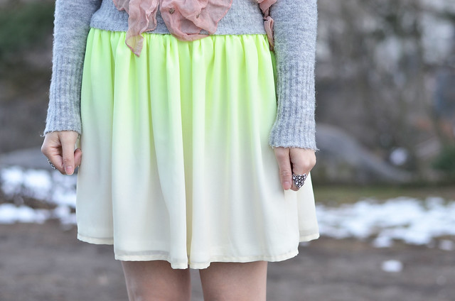 yellow ombre skirt