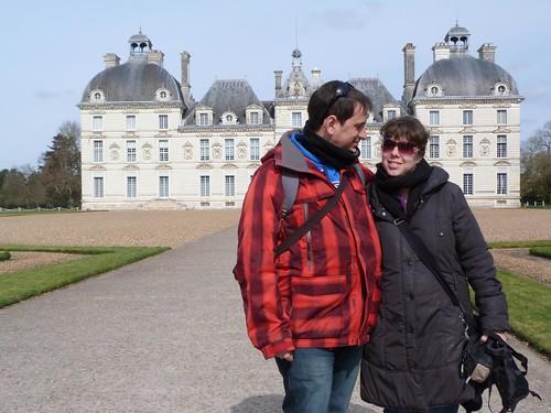 Foto en el castillo de Cheverny (Valle del Loira, Francia)
