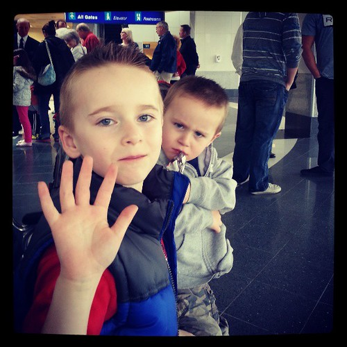 Waiting at three airport for dad