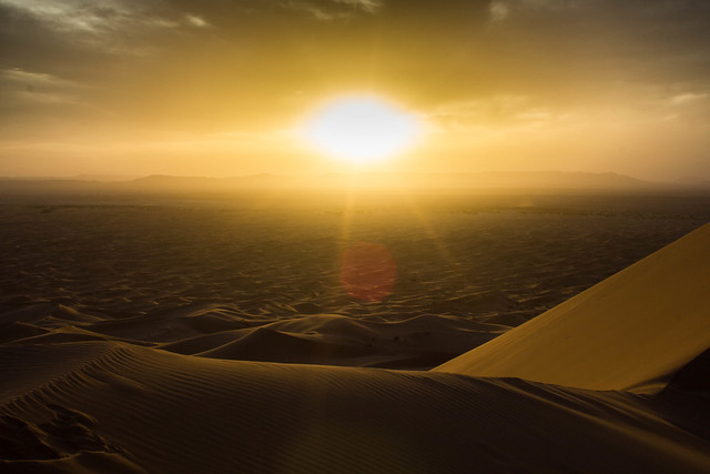 Sunset in the Sahara