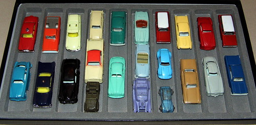 Vintage Mostly Plastic Toy Cars from the 1950s, Most Made in Italy