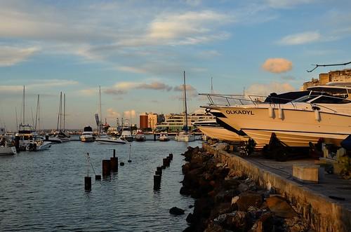 Barcos à Luz do Por do Sol