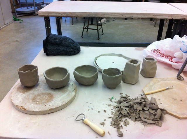 My pieces for the wood kiln