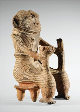 Figurine anthropomorphe assise sur un petit bancbrCulture TrujillobrEtat de Trujillo, Venezuelabr1300-1500 ap. J.-C.uuu uuu - Mozi_2