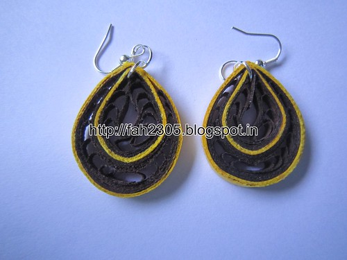 Handmade Jewelry - Paper Quilling Teardrop Earrings  (1) by fah2305