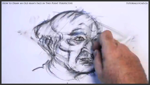 learn how to draw an old man's face in two point perspective 027