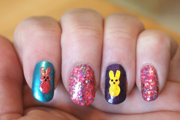 Peeps Nail Art Tutorial, 6