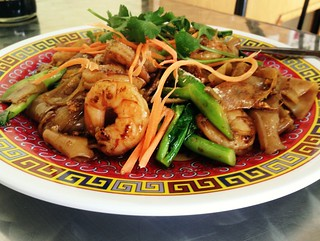 Pad See Ew with Shrimp - The Original Sab E Lee