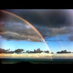 rainbow, sky,
