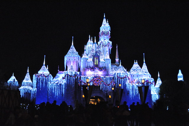 Snow White's castle in Disneyland