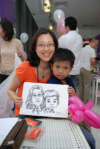 caricature live sketching for birthday party - 11