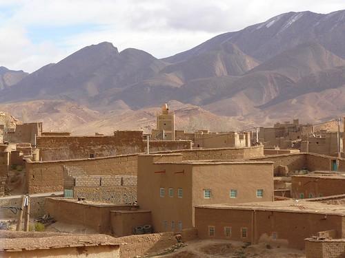Fotografía de Tamtattouchte, una aldea bereber del Atlas Medio (Marruecos)