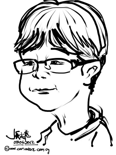 iPad digital caricature live sketching at Young Entrepreneurs - 3
