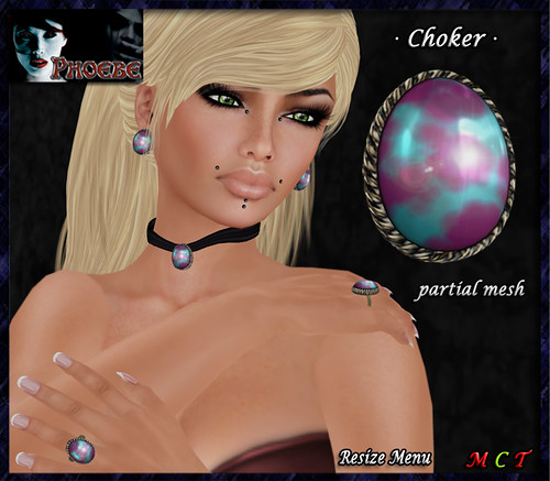 [NEW GROUP GIFT!] *P* Margot Choker ~Myst~ Partial Mesh