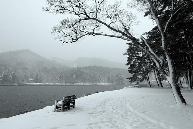 木崎湖キャンプ場 2012/01/02  (Kizaki lake campsite 2012/01/02)